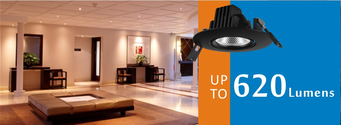 8W Gimbal LED down light luminous up to 620lm