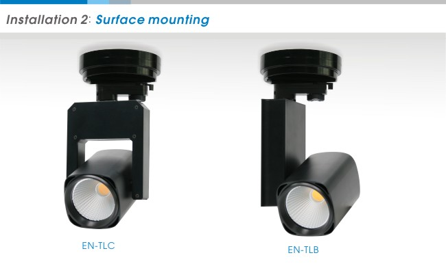 Surface mounting LED spot track light photos